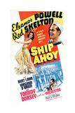 Ship Ahoy, Eleanor Powell, Red Skelton, Tommy Dorsey, 1942 Premium gicléedruk