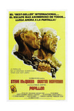PAPILLON, Spanish language poster, from left: Steve McQueen, Dustin Hoffman, 1973 Prints