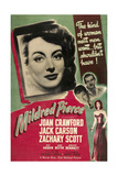Mildred Pierce, Joan Crawford, Zachary Scott, Jack Carson, 1945 Affiches
