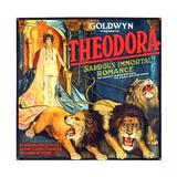THEODORA (aka TEODORA; aka THEODORA, THE SLAVE PRINCESS), Rita Jolivet on 6-sheet poster art, 1919. Posters