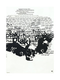 The Birds, (aka Ptaki), Polish poster, 1963 Pôsters