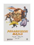 Sleeper, (aka Povampireni Majls), Yugoslavian poster, Woody Allen, 1973 Poster