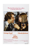A TOUCH OF CLASS, US poster, from left: George Segal, Glenda Jackson, 1973 Print