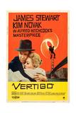 Vertigo, James Stewart, Kim Novak, 1958 Poster