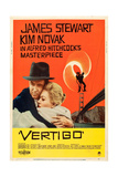 Vertigo, James Stewart, Kim Novak, 1958 Kunstdruck