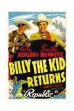 Billy The Kid Returns, Smiley Burnette, Roy Rogers, 1938 Plakat