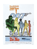 Dr. No, US poster, Sean Connery, 1962 Kunstdrucke