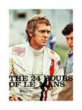 Le Mans, Steve McQueen on Japanese poster art, 1971 Plakater