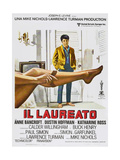The Graduate, (aka Il Laureato), Italian poster, Dustin Hoffman, 1967 Prints