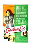 Christmas Eve, US poster, George Raft Print