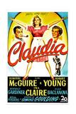 Claudia Premium Giclee-trykk