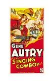 THE SINGING COWBOY, Gene Autry, 1936 ポスター