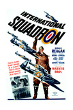 INTERNATIONAL SQUADRON, Ronald Reagan (center), 1941. Print