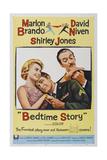 Bed Time Story, US poster, Shirley Jones, Marlon Brando, David Niven, 1964 Posters