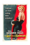 The Lady From Shanghai, Rita Hayworth, Directed by Orson Welles, 1947 Posters