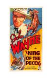 KING OF THE PECOS, John Wayne on poster art, 1936. Art