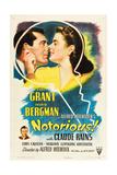 NOTORIOUS, Cary Grant, Ingrid Bergman, Claude Rains, 1946 Print