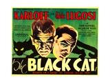 The Black Cat, Boris Karloff, Bela Lugosi, 1934 Poster