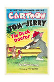 THE DUCK DOCTOR, left: Jerry, right: Tom on poster art, 1952. Poster