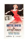 THE LITTLE FOXES, l-r: Teresa Wright, Herbert Marshall, Bette Davis on poster art, 1941 Posters