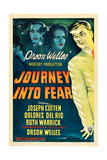 JOURNEY INTO FEAR, Joseph Cotten, Dolores del Rio, Ruth Warrick, Orson Welles, 1943 Art
