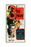 The Third Man, Alida Valli, Joseph Cotten on US poster art, 1949 Art