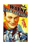 THE NEW FRONTIER (aka FRONTIER HORIZON), John Wayne, movie poster art, 1935. Posters