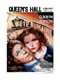 LA BETE HUMAINE, French poster, from left: Jean Gabin, Simone Simon, 1938. Plakater