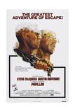 Papillion, US poster, Steve McQueen, Dustin Hoffman, 1973 Prints