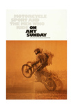 ON ANY SUNDAY, US poster, 1971. Planscher