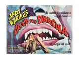 Andy Warhol's Young Dracula, (aka Andy Warhol's Dracula, aka Blood for Dracula), poster art, 1974 Prints