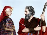 The Ten Commandments, Yul Brynner, Charlton Heston, 1956 Photo