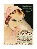 FORBIDDEN, Barbara Stanwyck, 1932 Art