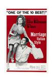 MARRIAGE ITALIAN STYLE, US poster, Sophia Loren, Marcello Mastroianni, 1964 Art