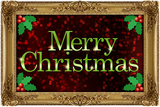 Merry Christmas Faux Framed Holiday Plastic Sign Plastikskilt