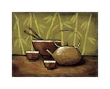 Bamboo Tea Room II Lámina giclée por Krista Sewell