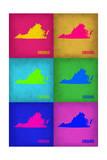 Virginia Pop Art Map 1 Foto av  NaxArt