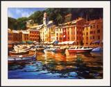 Portofino Colors Print by Michael O'Toole