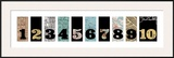 Number Map I Pôsteres por Max Carter