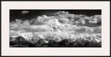 Monte McKinley Range, Nuvens, Parque Nacional de Denali, Alaska, 1948 Poster por Ansel Adams