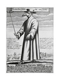 Plague Doctor, 17th Century Artwork Giclée-Druck von Science Photo Library