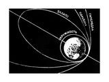 Orbit of Sputnik 1, Soviet 1957 Diagram Giclée-Druck von Ria Novosti