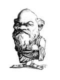 Socrates, Caricature Giclée-tryk af Gary Gastrolab