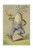 Dancing Frog with Pipe Giclée-tryk