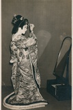 A Woman Dressed in a Kimono Photographic Print