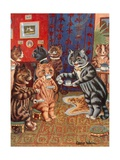 Taking Tea Reproduction procédé giclée par Louis Wain