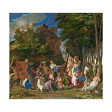 The Feast of the Gods, 1514- 29 Giclee Print by Giov. /Titian Bellini