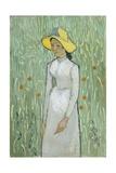Girl in White, 1890 Giclée-tryk af Vincent van Gogh