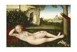 The Nymph of the Spring, after 1537 Giclee Print by Lucas Cranach the Elder
