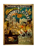 Adventures of Mr De Crac - French Circus Poster Giclée-tryk